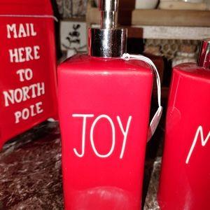 Rae Dunn Large Letter Christmas joy soap Dispenser